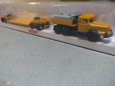1/87 Wiking Krupp Titan + 4achs Tieflader gelb 851 40B