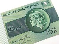 1970 Banco Central Do Brasil Um Cruzeiro Uncirculated Brazil Banknote Q310