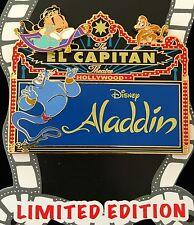 Disney Pin Dsf Aladdin Jumbo Marquee Slider Jasmine Genie Abu El Capitan Le 500