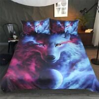 Wolf Animal Single Double Queen King Soft Doona/Duvet Quilt Cover Set Pillowcase