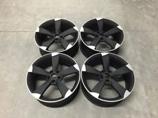 "19"" Audi TTRS Rotor Style Alloy Wheels Matt Black Machined Audi A4 A6 A8 5x112"