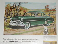 1952 Chevrolet advertisement, Chevy De Luxe Sport, hunting dogs