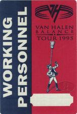 VAN HALEN 1995 Balance Tour Backstage Pass Crew