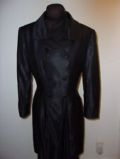 KARL LAGERFELD BLACK VINTAGE  DOUBLE BREASTED LINED  LONG SLEEVE DRESS SIZE 38
