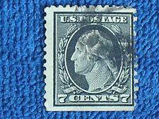 George Washington 7 Cent Stamp/1912-1914 Series/Black/Used-Hinged