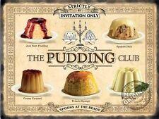 Pudding Club TORTE CUCINA BAR BAR RISTORANTE bistro piccolo METALLO LATTA TARGA