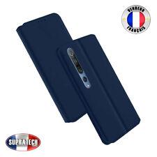 Etui Rabattable Bleu Nuit avec Support pour Xiaomi Mi 10 5G