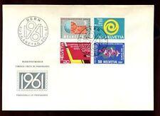 Svizzera 1961 Pubblicità EMISSIONE FDC #C 6426