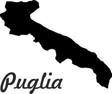 """2x Auto Aufkleber Italien Region """" APULIEN """" 11x9 cm Vinyl Sticker konturg."""