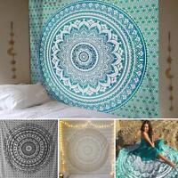 Indian tapisserie mural tenture Mandala hippie gitane jeter couverture bohémien