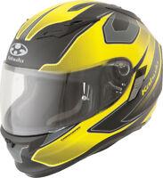 Kabuto Kamui Full Face Motorcycle Helmet Flat Black Yellow Stinger