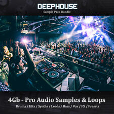 DEEP HOUSE-énorme 5 Go, Boucles, tambour hits, synthétiseur, Basse, Mène, sample-Pack
