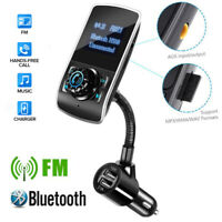 Bluetooth Car FM Transmitter Handsfree Radio Adapter Kit USB Charger MP3 Player