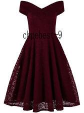 50s Swing Dresses V-Neck Vintage Style 1950's Rockabilly Evening Party Plus Size