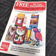 Coca Cola Christmas promotion six can decoration wraparounds 1977 copyright