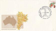 Postmark Jenolan Caves Jenolan NSW on golden wattle generic cover APM5220