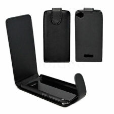 Flip Cell Phone Protector Leather Pouch Cover Case For HTC Desire 320 Black