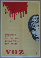 POCIAG / NIGHT TRAIN Polish Kawalerowicz Lucyna Winnicka 1959 YUGO MOVIE POSTER