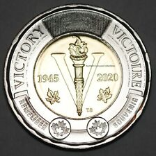 Canada 2020 2 Dollar Victory BU 75th Anniversary Toonie Uncirculated From Roll