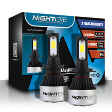 Nighteye 2X 72W 9000LM H7 LED Headlight Car Conversion Bulb White Beam 6500K KIT