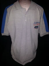 NWT University Florida Gators Polo Rugby Embroidered Mens Shirt Large Gray Blue