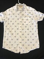 Men's FREE PLANET Short Sleeve Hawaiian Shirt - Size Small - Excellent Condition