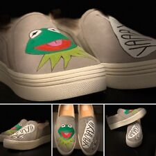 Kermit Or Elmo / Cookie Monster Shoes Custom Dolce Vito, Sperry And Air