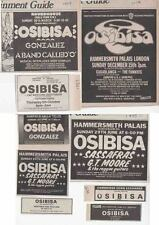 OSIBISA : 9 Small CONCERT ADVERTS -1970s-
