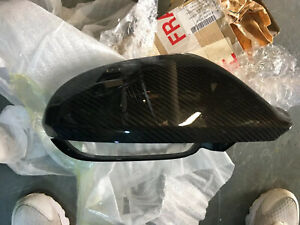 New Audi Rs6 Right Side Carbon Mirror Cover, Genuine Dealer Part 4g0 857 528 D