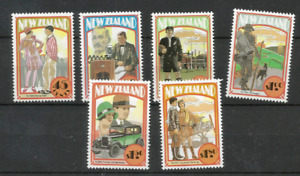 MINT 1992 NEW ZEALAND NZ EMERGING YEARS COMPLETE SET OF 6 FV $6.05