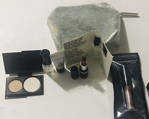 MACLipStick Mocha,Lipgloss,powder Plus Foundation,Setting Spray,Strobe Cream+Bag