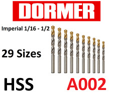 Steam Tempered Various Sizes DORMER A002 HSS Jobber Drills Imperial