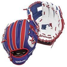 Wilson A200 Baseball Catching Glove Mitt Red/White/Blue 10 inch