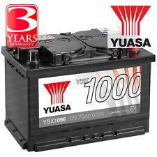 Yuasa YBX1096 Car Battery Calcium Open Vent 12V 620CCA 70Ah T1 Terminal