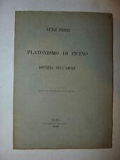Filosofia, Luigi Ferri: Platonismo di Ficino Dottrina Amore 1884 Salviucci Roma