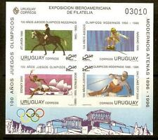 URUGUAY SGMS2247 1996 OLYMPIC GAMES IMPERF MNH