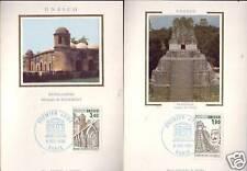 S91/92+ FDC 2 CARTES  1er  JOUR SOIE   UNESCO