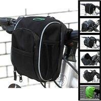 New Cycling Front Basket Bike Bicycle Handlebar Zipper Bag Rain Cover Black