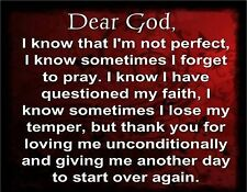 DEAR GOD MESSAGE   MOUSE PAD  IMAGE FABRIC TOP RUBBER BACKED