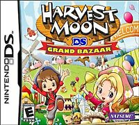 Harvest Moon DS: Grand Bazaar (Nintendo DS, 2010) GAME ONLY, TESTED USA SELLER