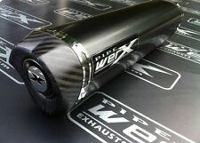 Suzuki GSXR 1000 K9 L0 L1 Powder Black Tri Oval, Carbon Outlet Exhaust Can