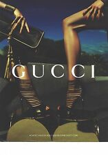 PUBLICITE ADVERTISING   2011  GUCCI chaussures low boots d'été