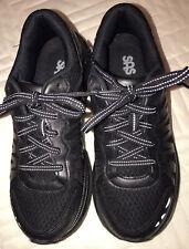 Women's Sas Vibram Sole Black Running Tennis Shoes 7.5B. Euc