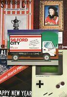 5 X SALFORD CITY HOME FOOTBALL PROGRAMMES 2018/19 ALL MINT