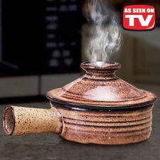 2 Stone Wave Microwave Cooker Ceramic Stoneware Baking Pan Non-Stick Ceramic
