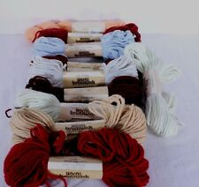 Brunswick Bucilla Tapestry Wool Yarn Lot of 10 - 40 Yard Skeins Assorted Colors