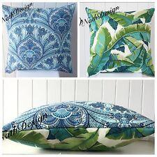 Tommy Bahama / Richloom Green Turquoise 45cm Cushion /throw Cushion Cover Boho