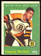 1959 60 TOPPS HOCKEY #19 FLEMING MACKELL VG-EX BOSTON BRUINS CARD