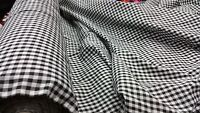 "NEW poly cotton 80%c 20%p very soft checked & stripe fabric 44"" wide"