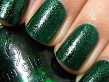 China Glaze EMERALD SPARKLE Shimmering Green Sparkle  New Full Size Bottle